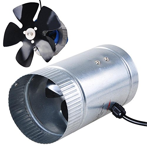 Portable Mini 4 Inches Inline Duct Booster Vent Fan Blower L