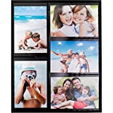 collage refrigerator - Magnetic Picture Frame for Refrigerator Holds 5 4x6 Photos Collage Frame, Black