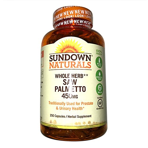 Saw Palmetto Capsules - Sundown Naturals Saw Palmetto 450 mg, 250 Capsules