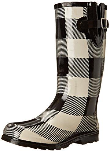 Nomad Womens Puddles Rain Boot Black/White Checker irD1bans