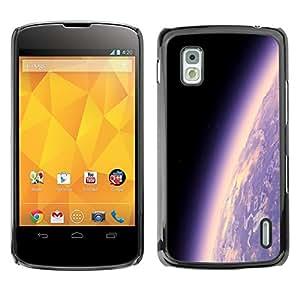 [Neutron-Star] Snap-on Series Teléfono Carcasa Funda Case Caso para LG Nexus 4 E960 [Tierra del planeta Ambiente púrpura Universo Cosmos]