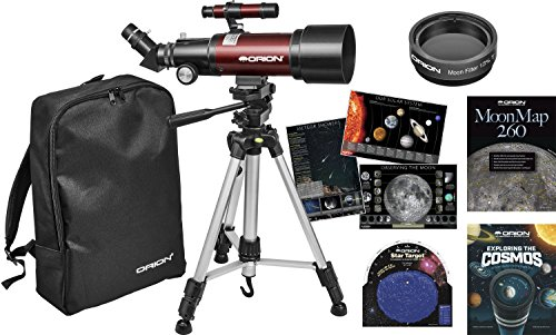 Orion Goscope III 70mm Refractor Special Travel Telescope Kit, Red (21099)