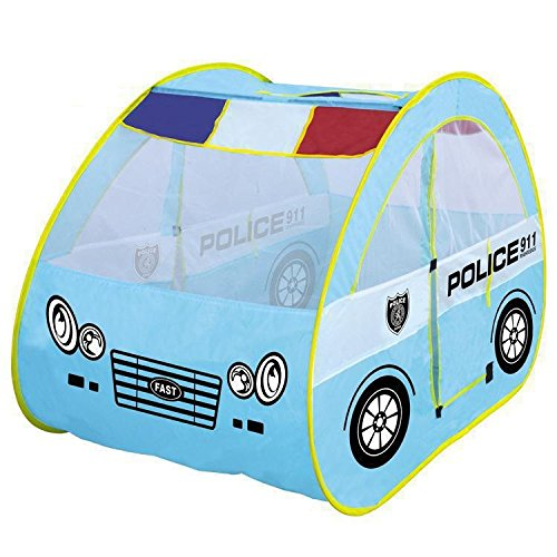 Children 's Largeゲーム警察Playhouse Patrol Car Shapeテントハウス赤ちゃんおもちゃ B072HLNT4H