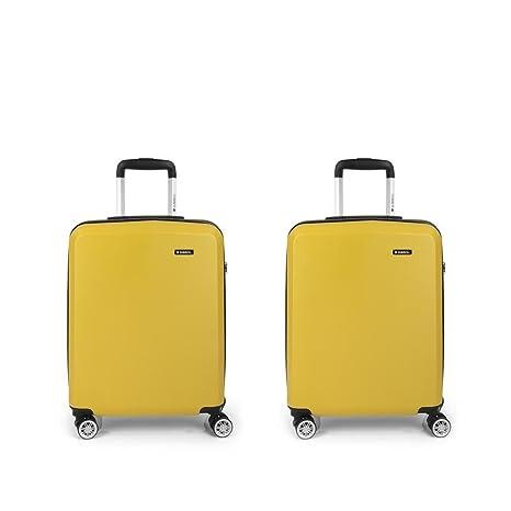 Set 2 Maletas cabina Gabol Mondrian Amarillo: Amazon.es ...