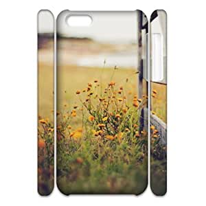 DIY Phone Case with Hard Shell Protection for Iphone 5C 3D case with Beautiful grassland lxa#457597 by runtopwell