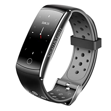 HelloPet Q8S IP68 Waterproof Watch Intelligent Bluetooth Smart Watch for Android, iOS, Heart Rate, Blood Pressure Monitor, Intelligent Fitness Sports ...