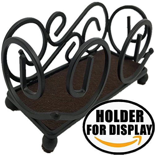 Metal Coaster Holder (Upright Iron Metal Coaster Holder For 4 to 6 Pcs Round Or Square Coasters - 5