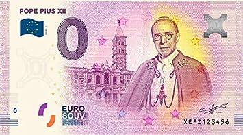 IMPACTO COLECCIONABLES Billete del Vaticano - Billete de 0 Euros del Papa Pío XII: Amazon.es: Juguetes y juegos