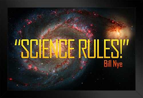 ProFrames Science Rules! Bill Nye Galaxy Quote Framed Poster