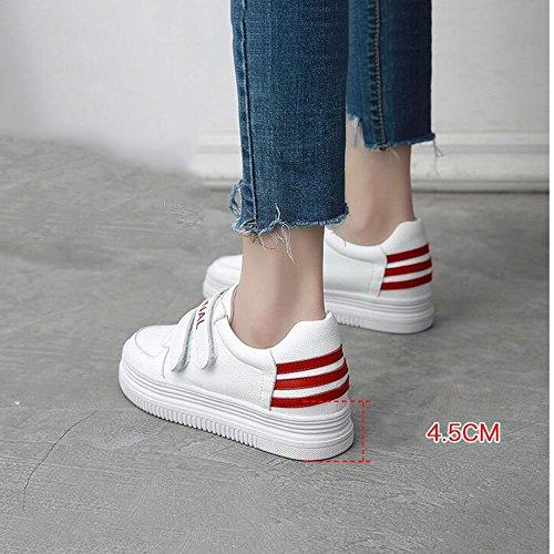 5 3 Rosso 5cm Anni Rosso 40 Sneakers colore Tennis Stivaletto cn38 nbsp; Per Scarpe Donna 18 Bianco Eu38 uk5 Dimensioni Haizhen 8xUR0qw4