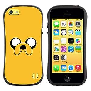 Paccase / Suave TPU GEL Caso Carcasa de Protección Funda para - yellow cartoon comic character eyes dog - Apple Iphone 5C