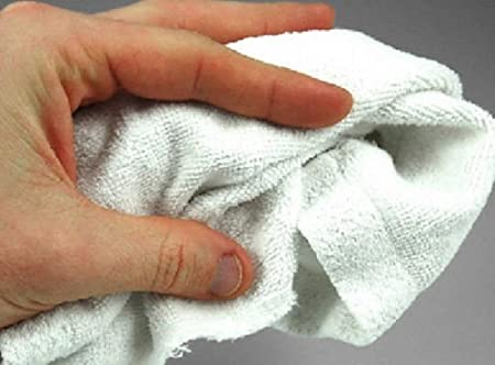 30 cotton terry cloth cleaning bar towels shop rags 12x12 100/% cotton