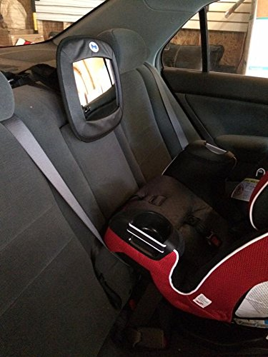 Amazon Baby Mirror For Rear Facing Car Seats From Giggling Monkey Great Safety Features Large Perfect Crystal Clear Image Heavy Duty Straps