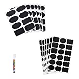 CHALKBOARD LABELS Set-156 Premium Reusable Chalkboard Stickers with 1 Erasable  White Chalk Marker for Organizing Your Pantry,Craft Rooms,Office,Parties,Weddings,Storage&Kitchen,Best label Your Cabine