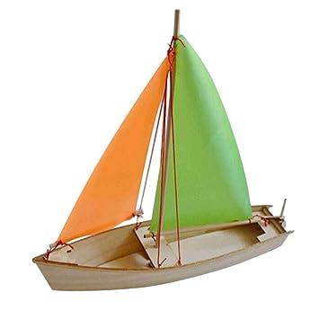 Fenteer Diy Wooden Small Sailboat Ship Boat Model Building Kits Toy