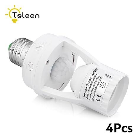 110 V/220 V infrarrojos PIR sensor de movimiento E27 Base de ...