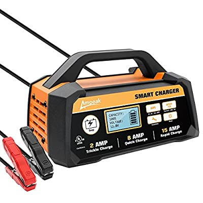 Ampeak 12V Smart Battery Charger/Maintainer Automatic