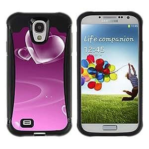 """Hypernova Defender Series TPU protection Cas Case Coque pour Samsung Galaxy S4 IV I9500 [Amor Modelo púrpura del corazón""""]"""