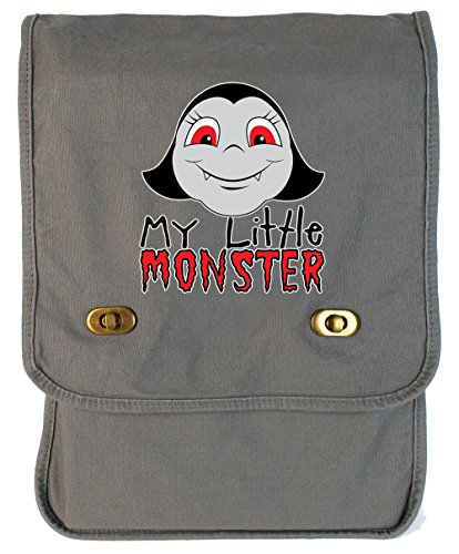 Tenacitee My Little Monster Lady Vampire Smoke Grey Canvas Field Bag (Vampire Nerd Costumes)