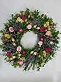 Whispering Meadows Wild Flower Dried Floral Wreath Indoor Spring Summer Decor 21-22 Inch