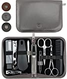 THREE SWORDS | Exclusive 10-Piece MANICURE - PEDICURE - GROOMING – NAIL CARE set/kit / case | VARIOUS DESIGNS | basic-standard quality (001467)
