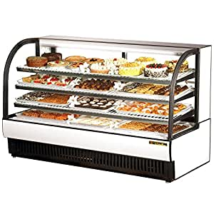 "White True TCGR-77 Curved Glass Refrigerated Bakery Display Case 77"" - 43 Cu. Ft."