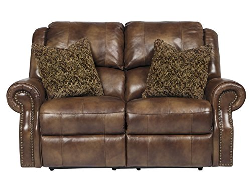 Walworth Traditional Leather Auburn Color Reclining Power Loveseat Best Sofas Online Usa