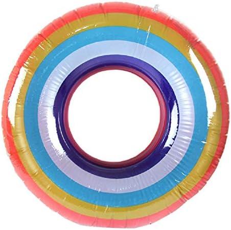 レインボー 浮き輪 80cm 海水浴 大人 水遊びに大活躍 大人用浮き輪 安全 丈夫 スイミング ビーチ 水遊び お風呂 水泳補助具 飾りおもちゃ
