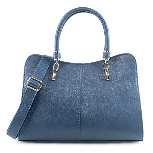 Blue Leather Handbags - 5