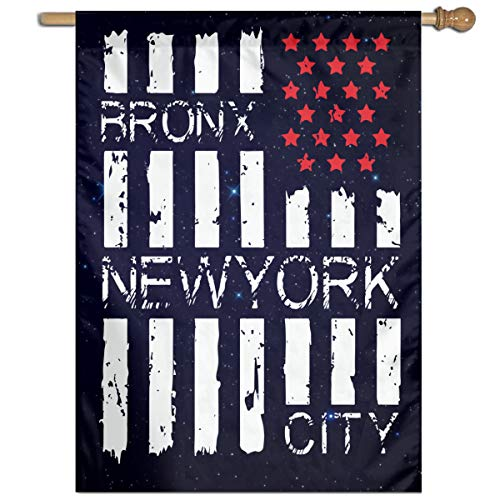 FQ#8FLAG American Flag with Bronx, New York City Welcome Family Party Flag Garden Home Vertical Flag 27