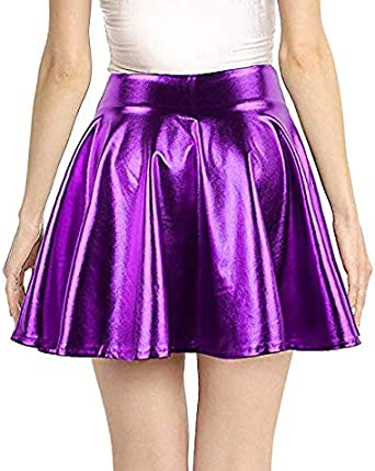 Alaroo Womens Stretchy Fish Scale Mermaid Print Flared Skirt S-4XL