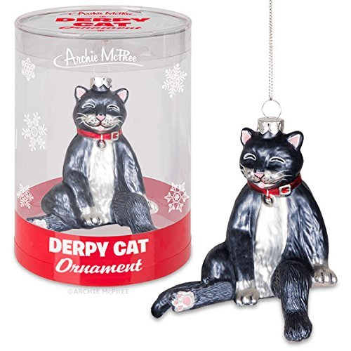 Accoutrements Derpy Cat Ornament Standard