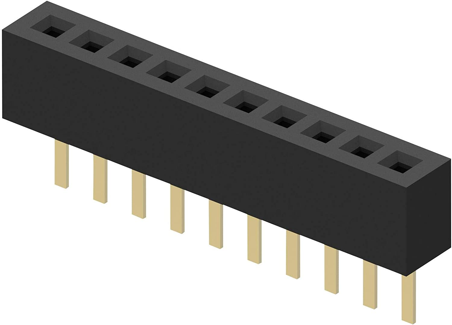 Receptacle 1 Rows 8 Contacts Board-To-Board Connector 1 mm BC065-08-A-L-D Through Hole BC065-08-A-L-D Pack of 50 BC065 Series
