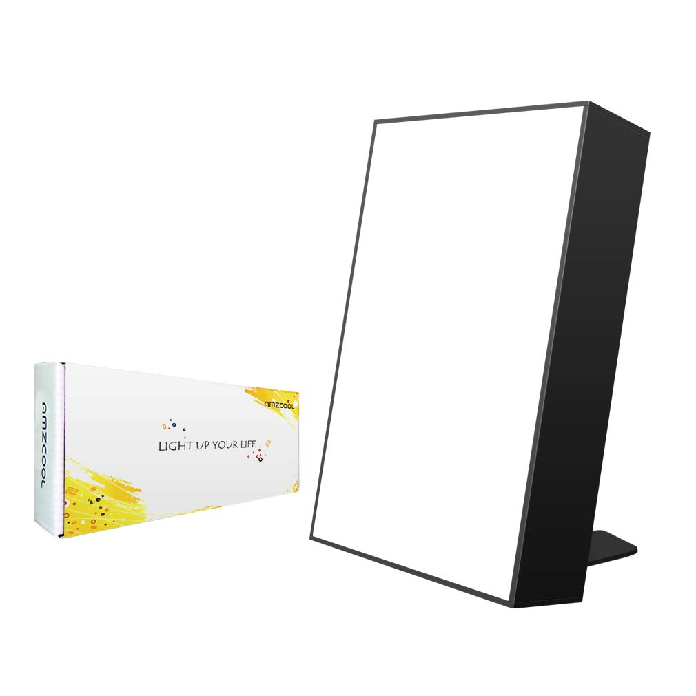 10,000 Lux Happy Energy Light Therapy Simulated Natural Sunlight Full Spectrum LED Lamp Light Box Portable Thin Border Design Aluminum Alloy Material