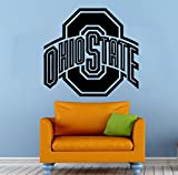 NCAA Wall Decal Sticker Ohio State Football Emblem Home Interior Removable Decor (25''high X 22''wide)