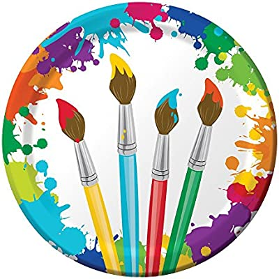Napkins Art Painting Birthday Party Supply Pack Bundle Includes Paper Plates Cups /& Silverware for 8 Guests Creative Converting AX-AY-ABHI-113924