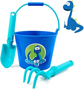 Colwelt Beach Sand Toys Set for Kids, Cute Dinosaur Kids Garde Tool Set, Bucket and Shovel for Kids