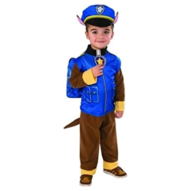 Paw Patrol Chase Costume Toddler 2T-3T Police Officer Puppy Cute Halloween Play  sc 1 st  Amazon.com & Amazon.com: Paw Patrol Chase Costume Toddler 2T-3T Police Officer ...