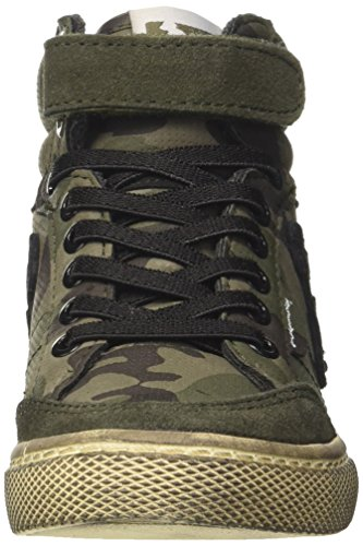 Camu DrunknMunky Verde a Military Alto Boston Green Collo Sneaker Bambino vRRqSx5f