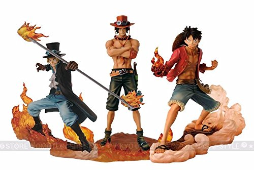 Anime DXF Brotherhood II Luffy Sabo Ace 3pcs PVC Figure New in Box
