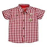 Bondi Bavarian Dress Shirt Gipfelstürmer Short Sleeve Red or Blue (86, Red)