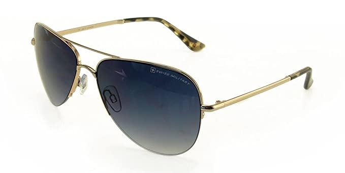 9b3a5cf387 Image Unavailable. Image not available for. Colour  Swiss Military Gradient Aviator  Men s Sunglasses ...