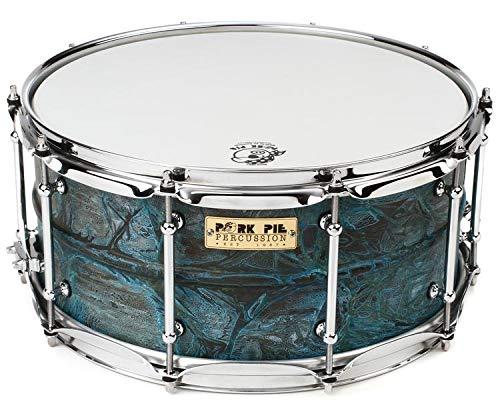 Pork Pie Percussion USA Custom Patina Brass Snare Drum - 6.5'' x 14''