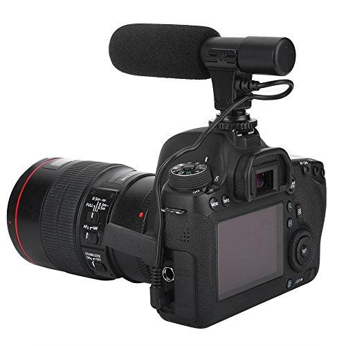 Fosa Mini Micrófono Estéreo Profesional para Grabación de Video y Sonido Unviersal de Cámara de Video Digital