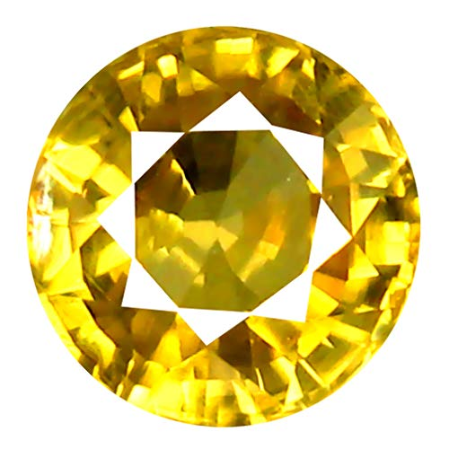 Deluxe Gems 1.39 ct AAA+ Grade Round Shape (6 x 6 mm) Cambodian Golden Yellow Zircon Natural Genuine Loose Gemstone