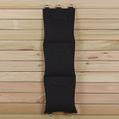 Black Canvas Punching Wallbag For Wing Chun One-Inch Fist Practice Different Style Option (NO Leather, 3-Section) BC003