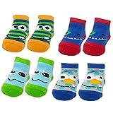 monster feet socks - Baby Essentials Unisex Newborn Baby Booties Monster Character Critter Socks 0-6 Months