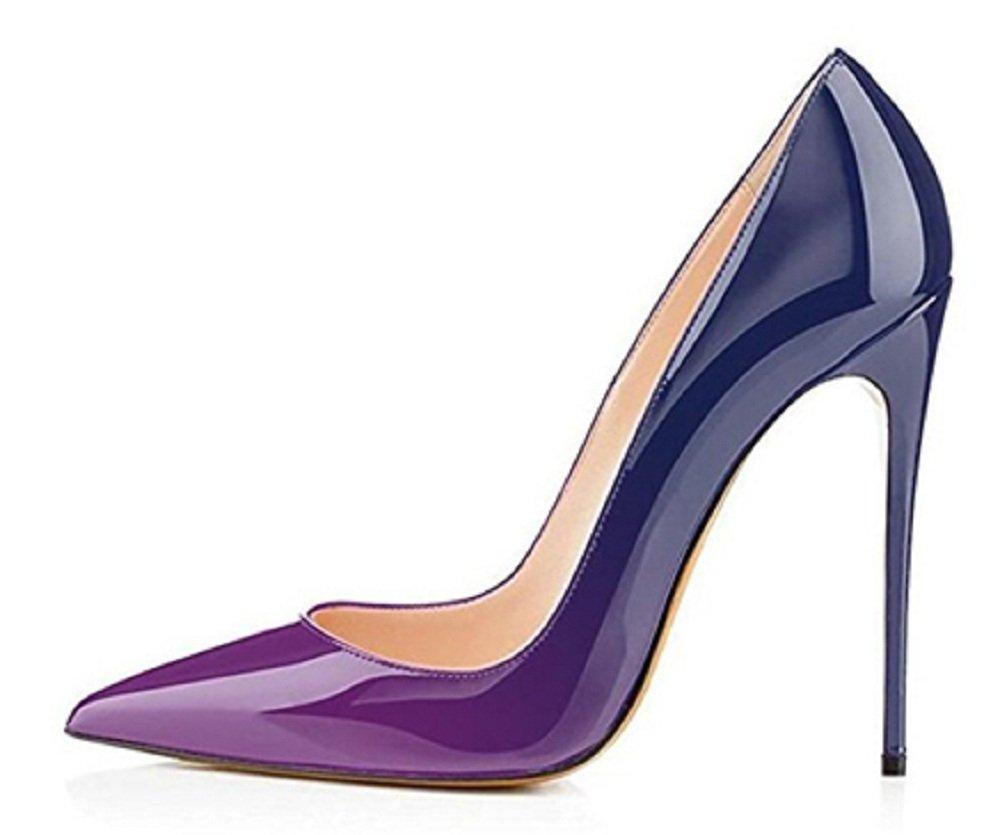 Emiki - Zapatos de Tacón Mujer EU43|azul-lila