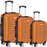 ERIC YIAN Luggage Set 3 Piece ABS Trolley Suitcase Spinner Hardshell Lightweight Suitcases TSA