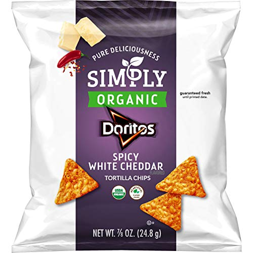 Simply Doritos Spicy White Cheddar, 0.875oz (36 Count)